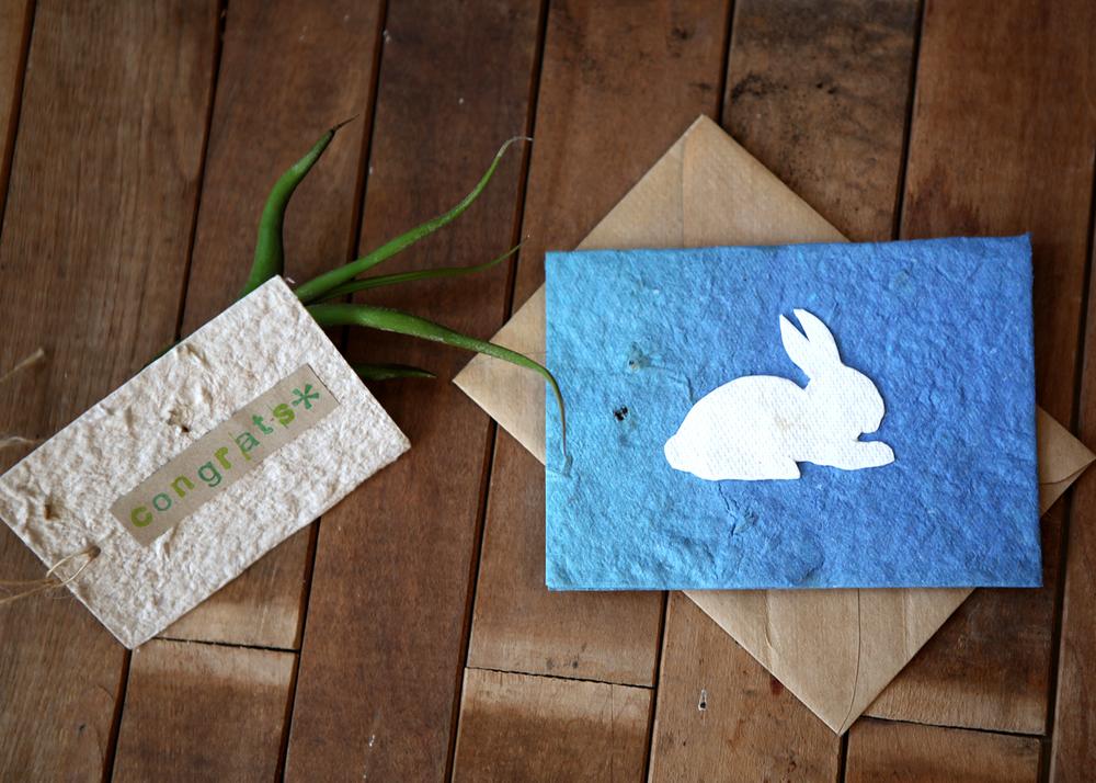 Plantable paper by Paper Dandelions, $1.50-$5.00