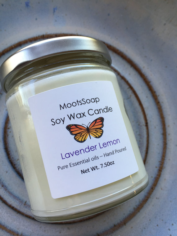 Lavender Lemon Soy Wax Candle, $15.