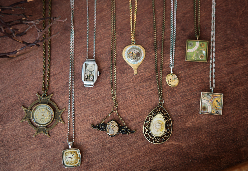 Various necklaces, $35-$55.