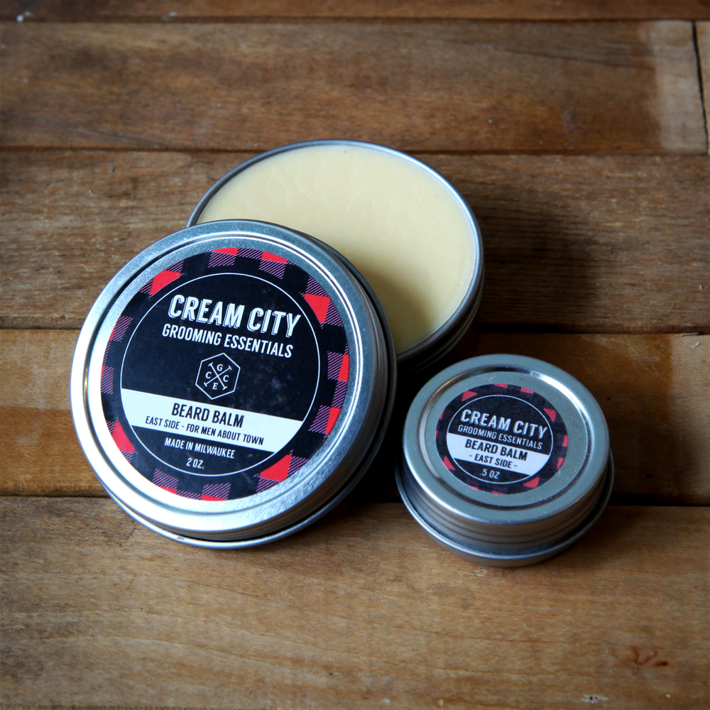 Beard Balm  -  East Side  -  For Men About Town  $15/ 2oz tin.  $6.50/ .5oz tin.