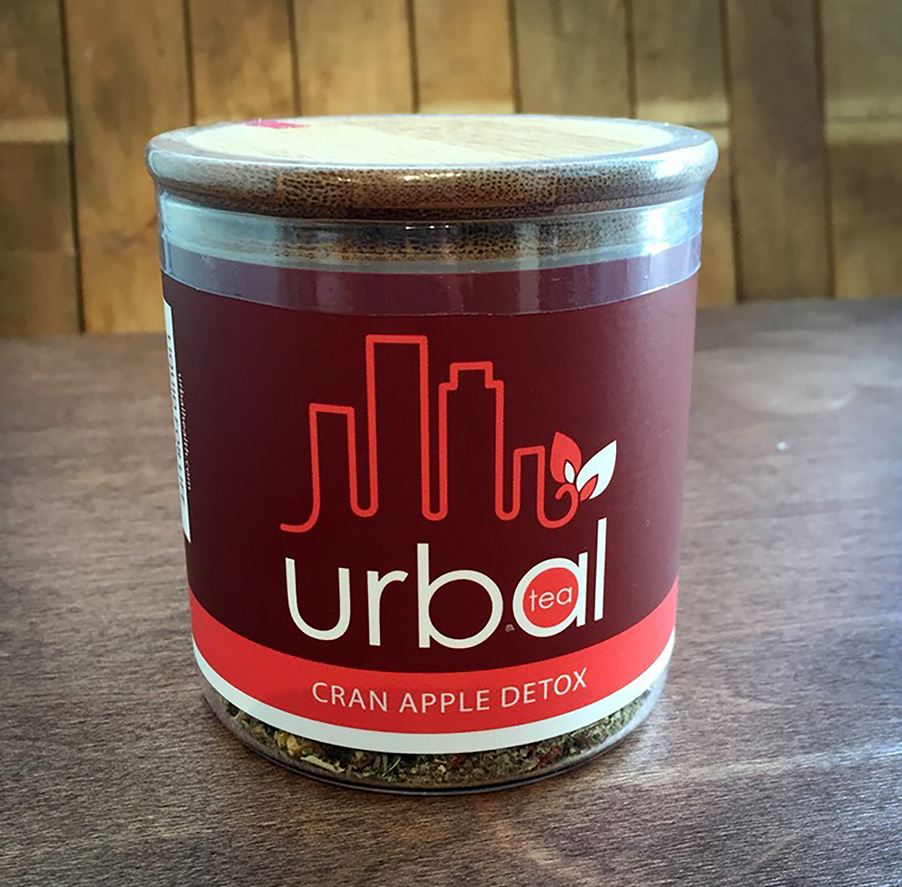 Cran Apple Detox 3.5oz blend that has 20+ servings.  $13.  A super detoxifying blend with the sweet tart taste of cranberry, highlighted by a burst of fresh picked apples.