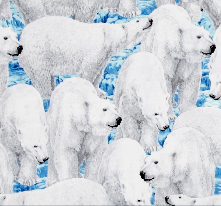 Polar Bear Northern Lights Fabric dot com