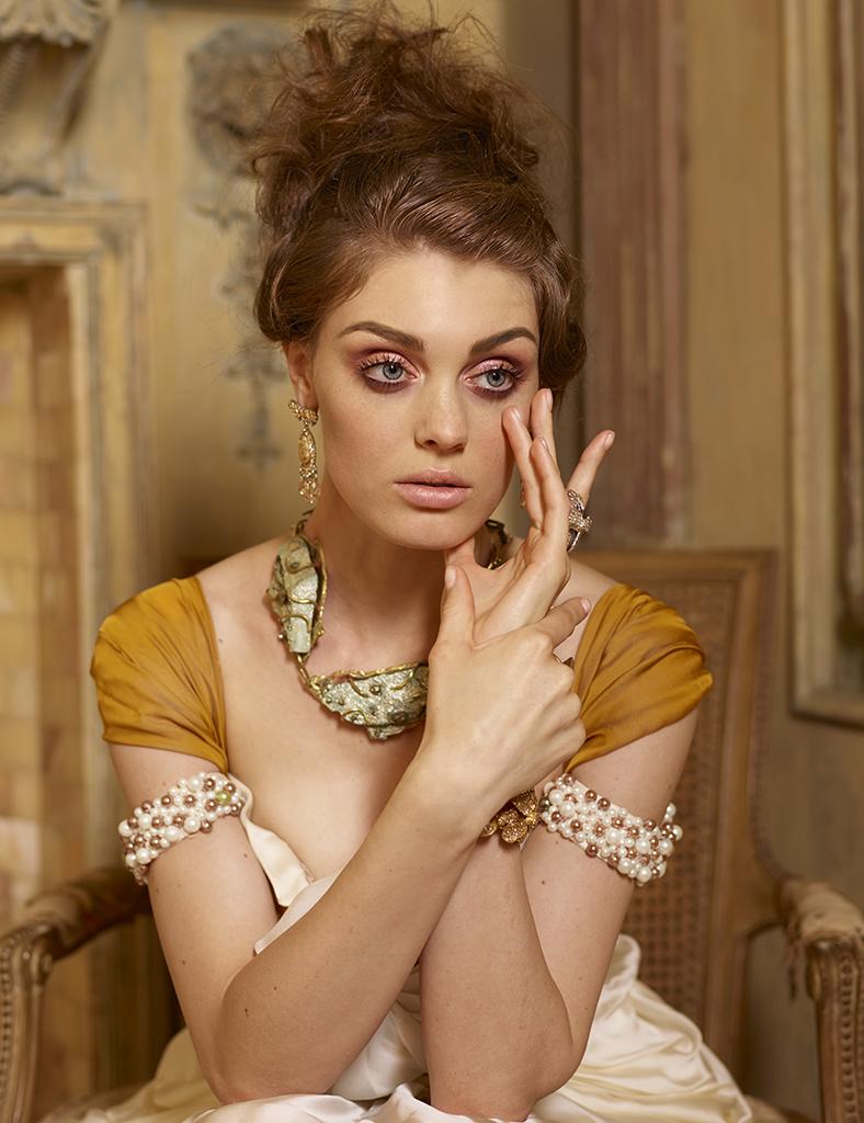 Model: Anastasia V Stylist: Leonid Gurevich Hair: Takayoshi Tsukisawa Makeup: Aya Kudo Stylist's assistant: Marina Gurevich