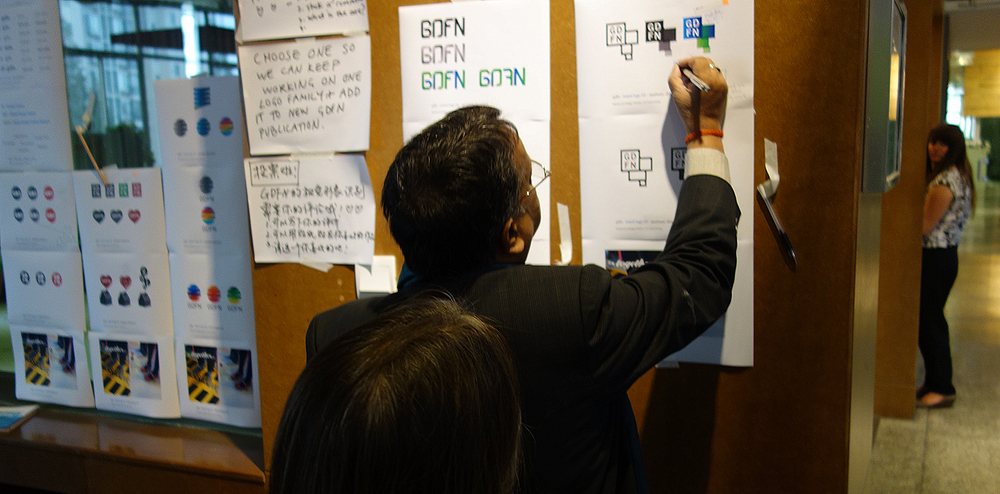 GDFN Logo Development, design workshop involving global participents, Tongji University, Shanghai China