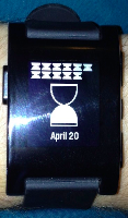 Initial release version of the hourglass watchface