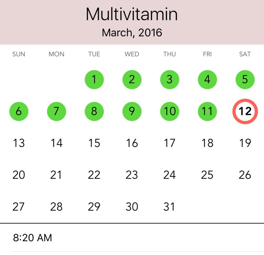 Calendar View for task history