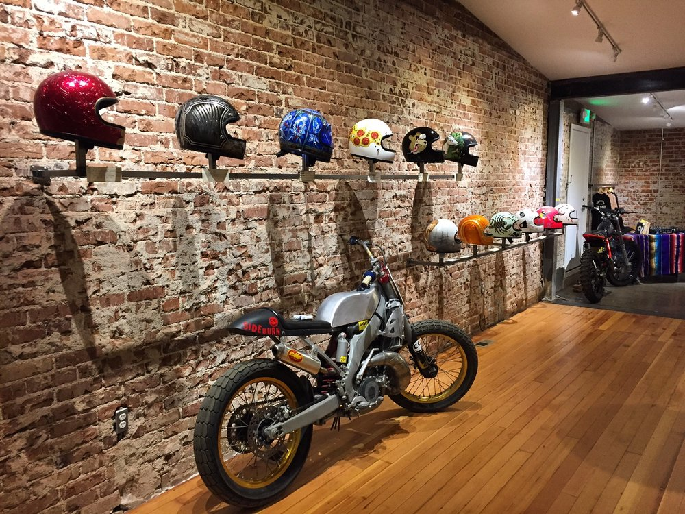 21 HELEMTS THAT LIVE ON DISPLAY AT OUR SEE SEE MOTOR COFFEE CO. RENO LOCATION