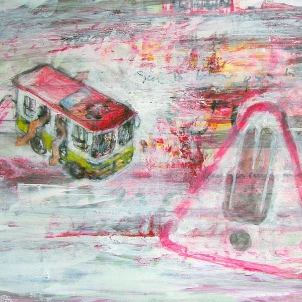 Alarma I. 8x10, ca. 2005. Mixed media on photography #art #artwork #artnewyork #mixedmedia #tbt