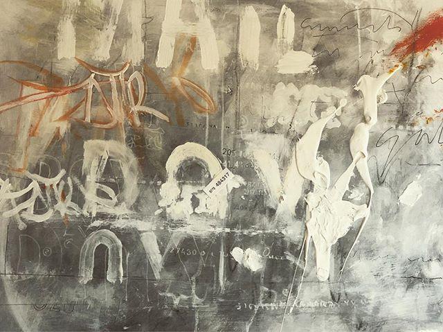Untitled. Mixed media, 40x30, 2018. #art #artistsoninstagram #artwork #artnewyork #acrylicpainting #mixedmedia #painting #typography #urbantypography #abstractart