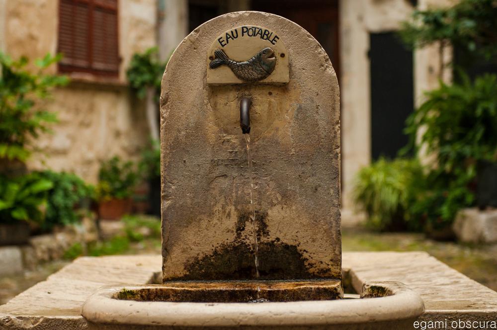 Communal fountain in St. Paul De Vence