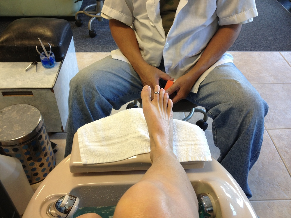 I love Lily's for a pedicure on the beach!  A1A St. Augustine.