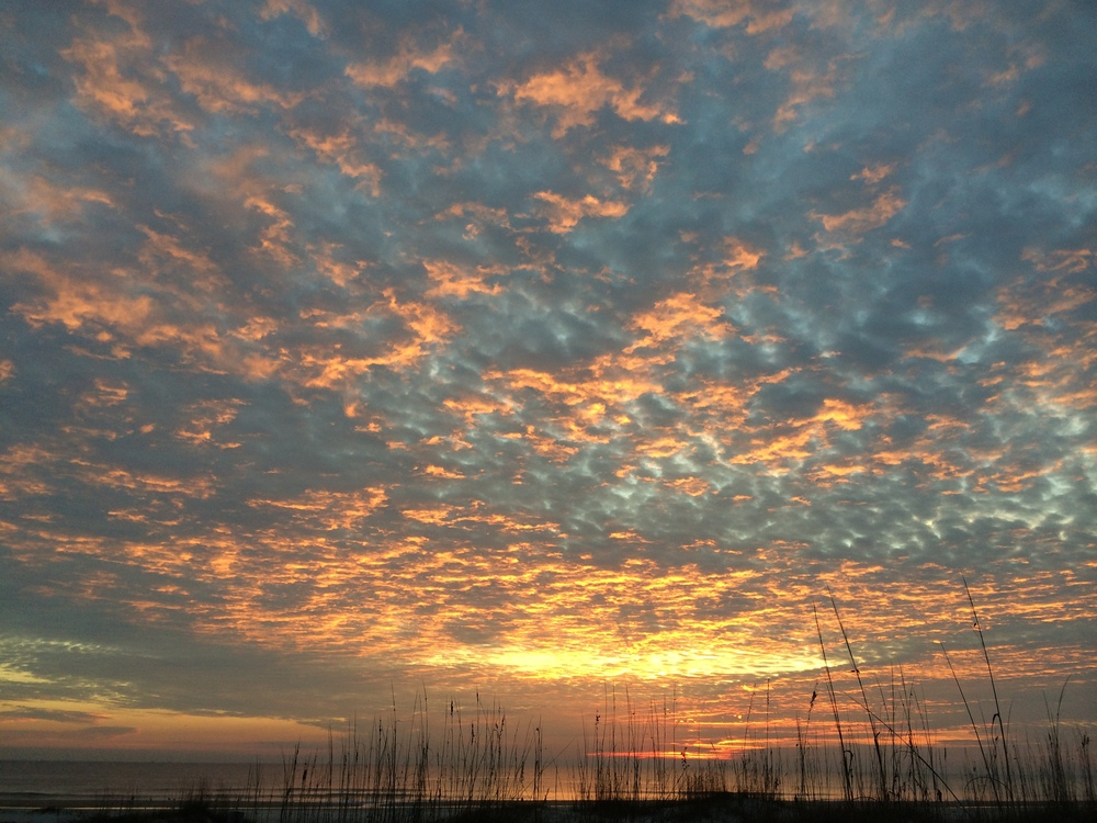 Sunrise Fire Skies, St. Augustine, FL., December 19 2014
