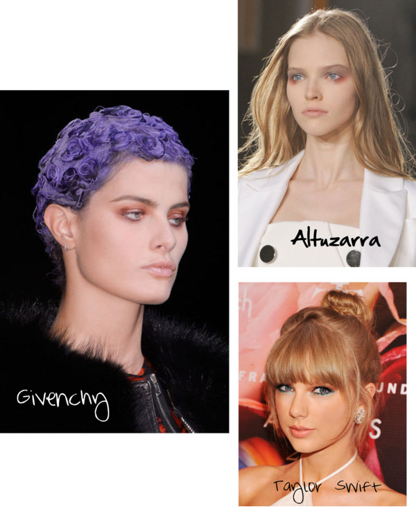 Photo credit, clockwise from left:  Imaxtree via Harper's Bazaar and Stephen Lovekin/FilmMagic via Seventeen.com