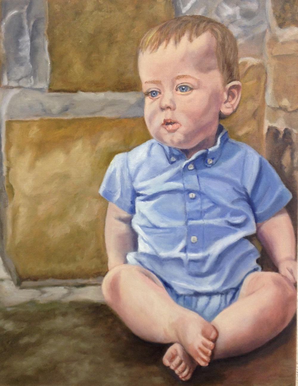 Jeanne Alexander's portrait of her grandson.