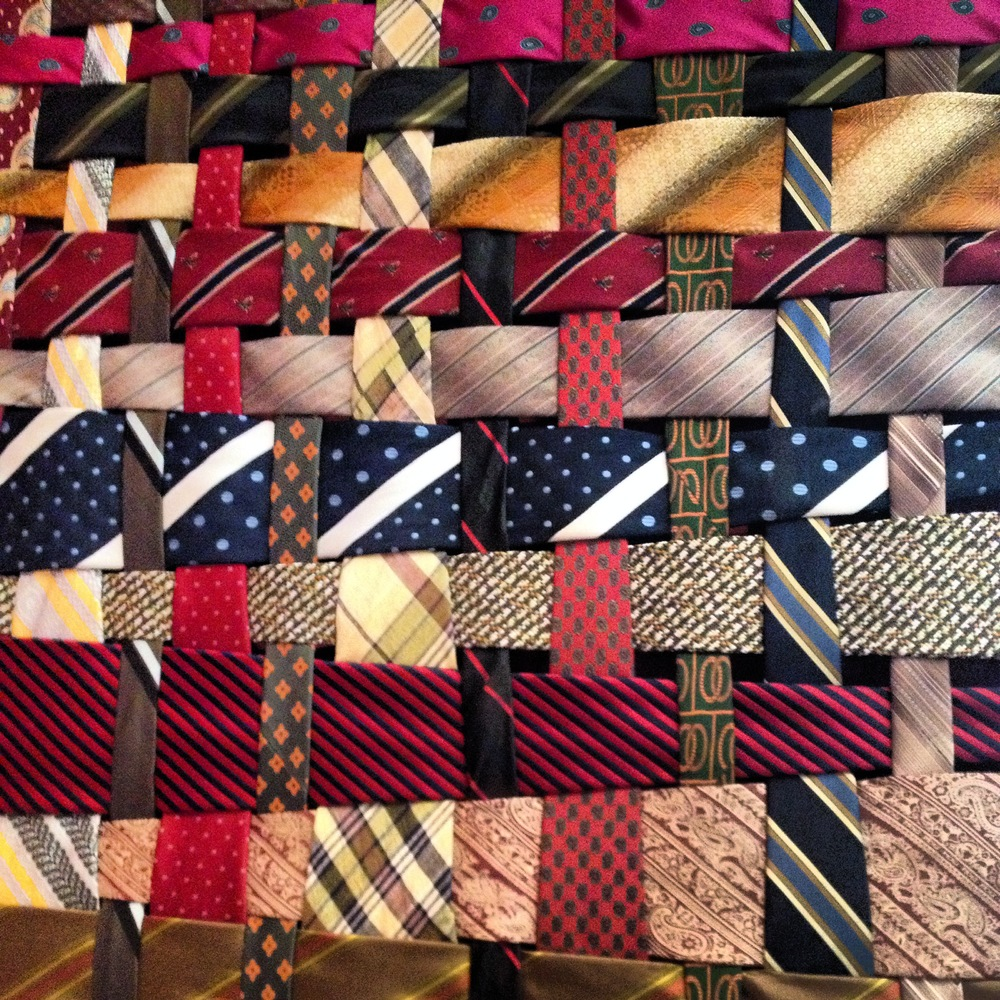 Necktie quilt by folk artist. I will get the name soon!
