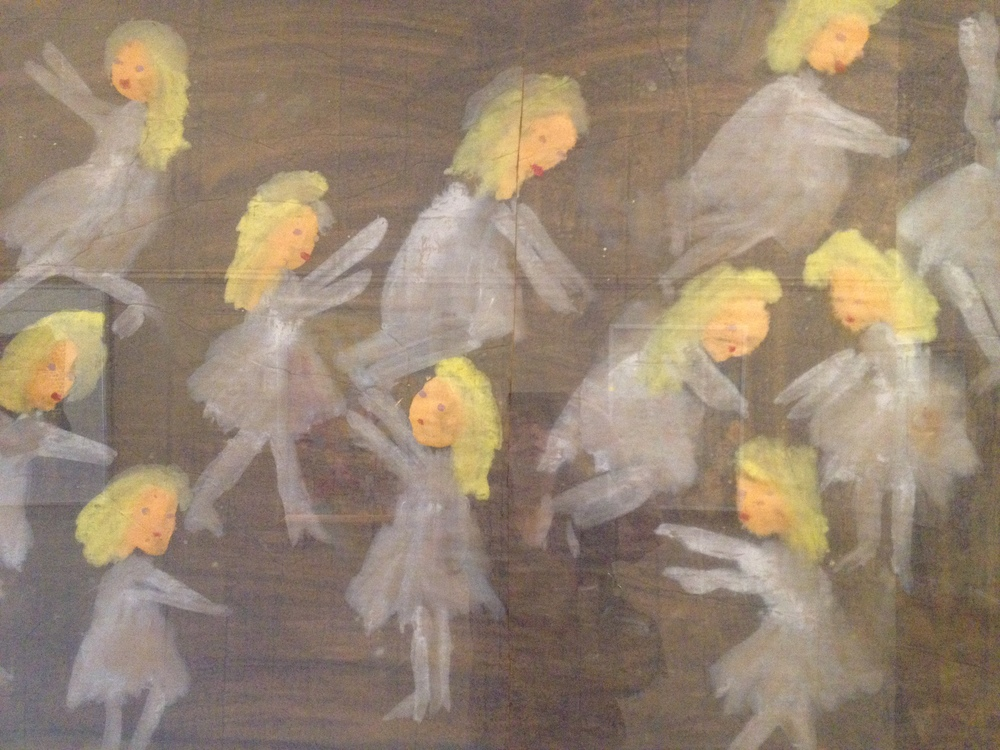 Dancing girls, I think, by Jimmy Lee Sudduth.