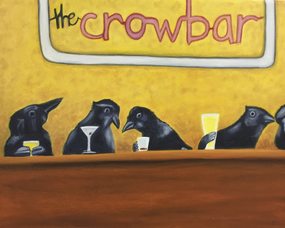 """The Crow Bar""  16"" x 20""  Oil on Canvas"