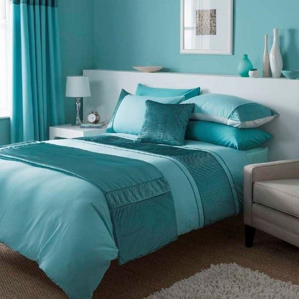 luxury-bedding-sets-turquoise-bedroom-ideas-white-furniture-shaggy-rug.jpg