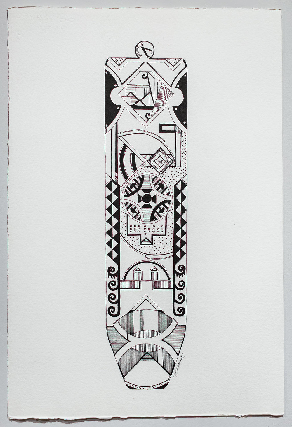Pendant in ink, 2014