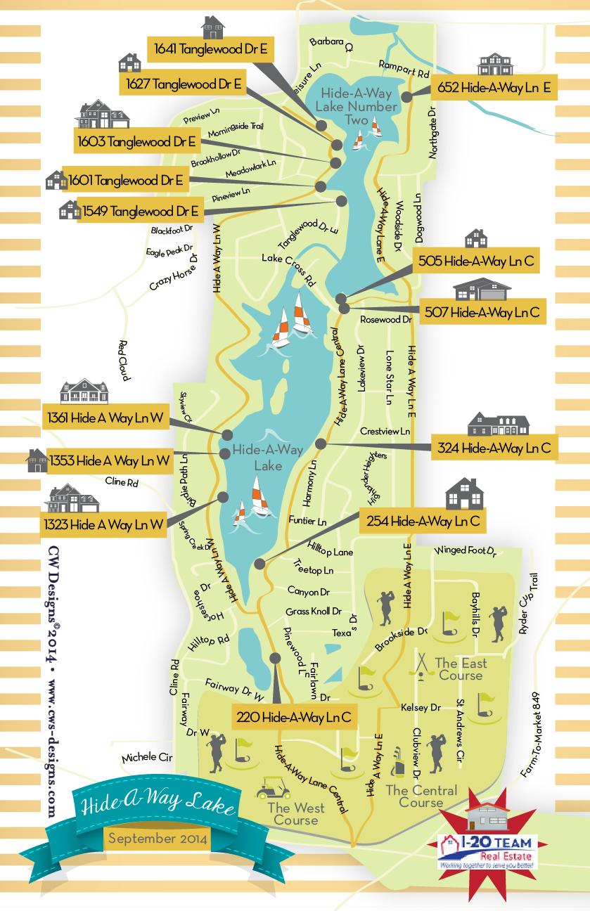 Hideaway Lake, Tx Trish 6x9 E_Map Front.png