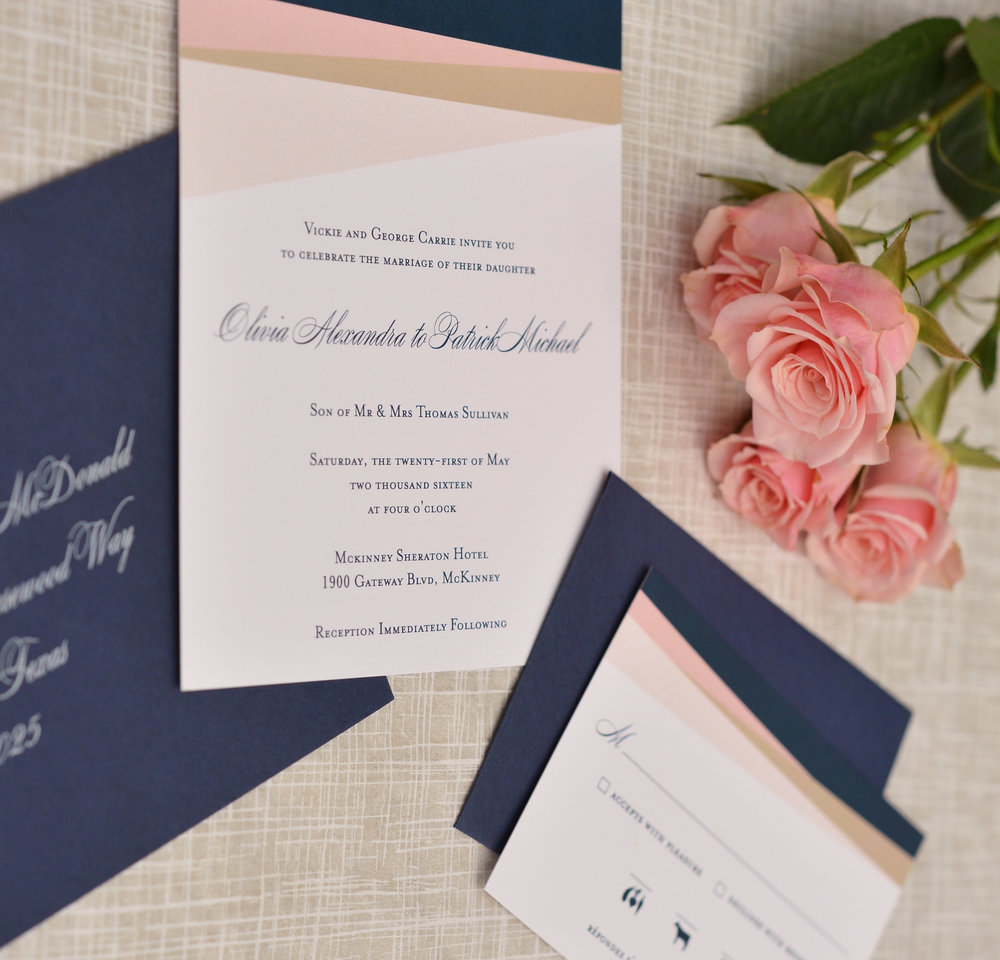 Modern Wedding Invite Pink Navy.jpg