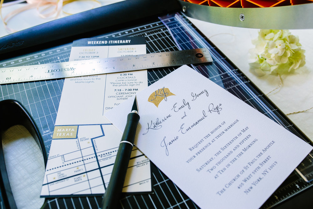 Wedding Map Marfa Texas