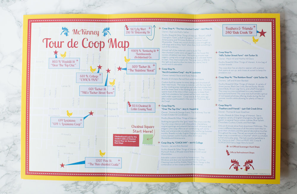 CW Maps Tour De Coop McKinney Texas Festivaljpg