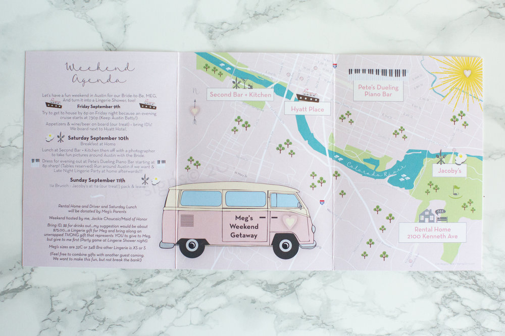 Austin Map Bachelorette Party Map Pink Retro Map The Map Chick