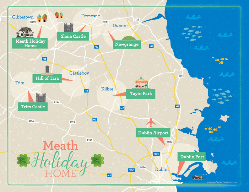 Ireland Rental Home Map The Map Chick