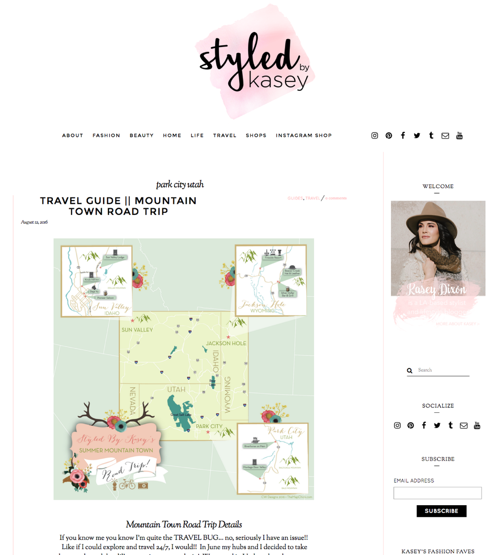 Styled by Kasey Fashion Blogger Map The Map Chick