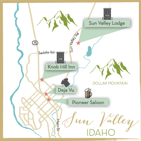 Styled by Kaset Sun Valley Idaho Map The Map Chick