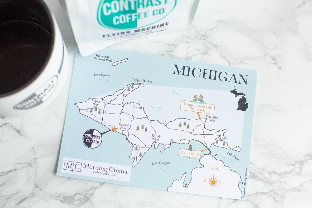 Michigan Map The Map Chick Morning Crema