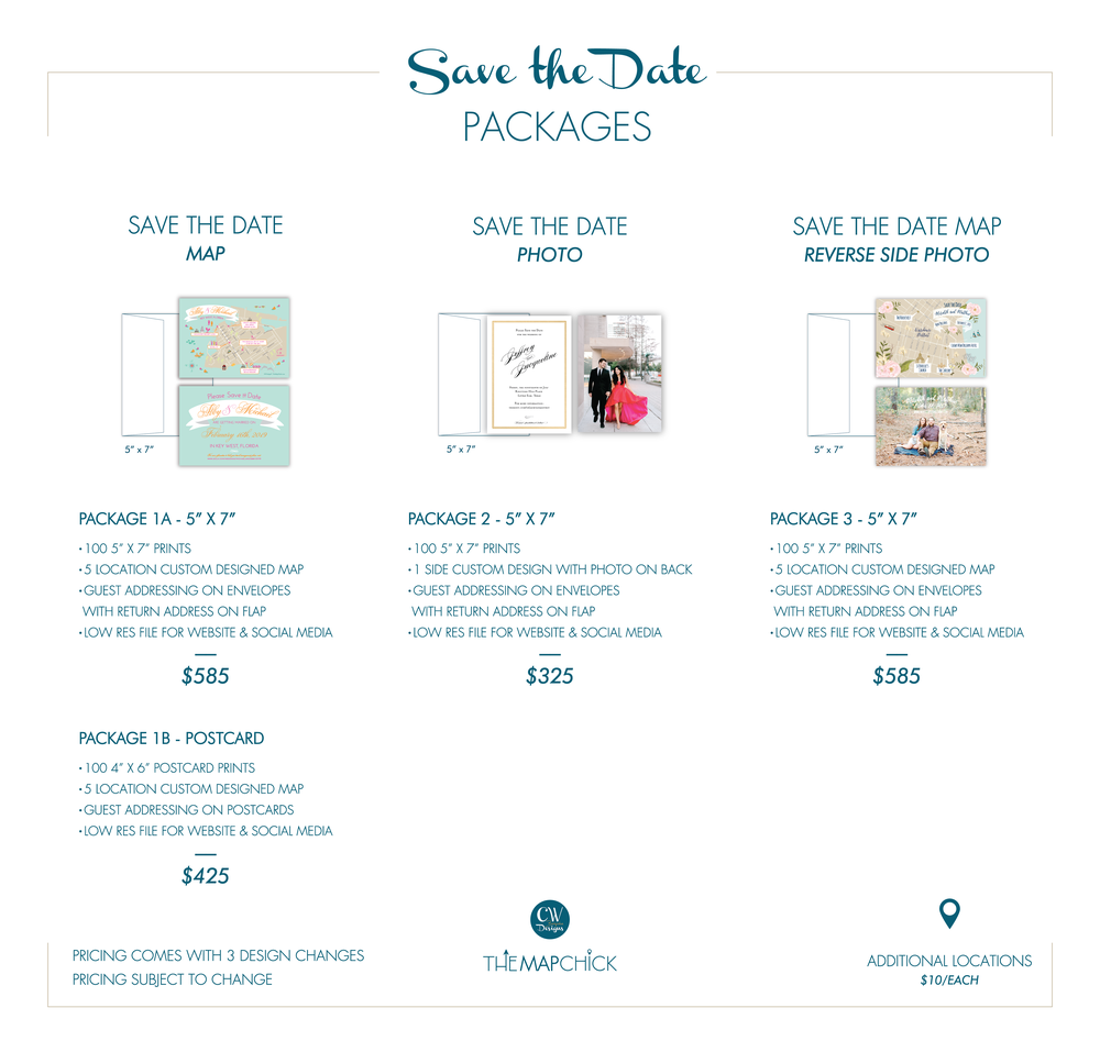 Save the Date Package Pricing