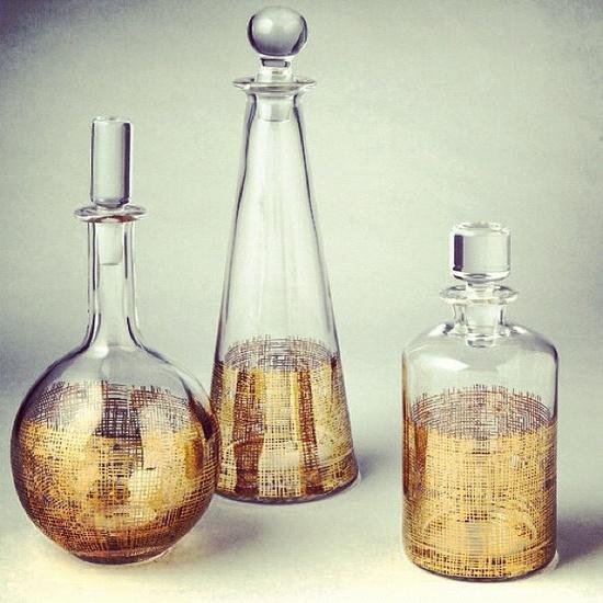 @ dwell studio/ cross hatch decanter set