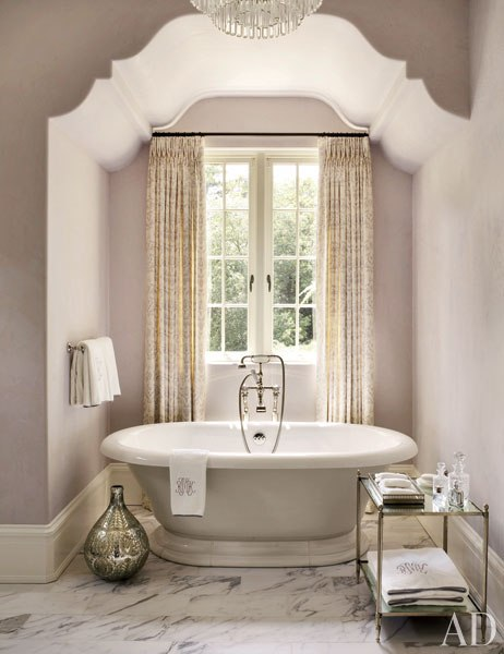 An Atlanta bathroom by Suzanne Kassler and William T Baker found in Architectural Digest