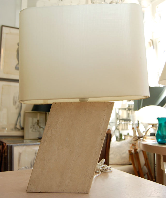 Angled Marble Table Lamp