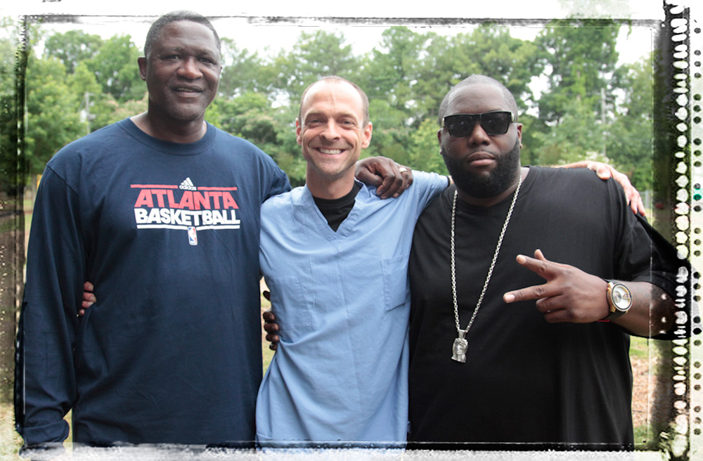 Founder Kevin Strong with Rapper Killer Mike, and NBA Legend Dominique Wilkins