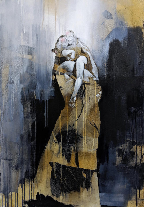 Anne Britt Kristiansen - Mother and daughter 100x70 cm.jpg
