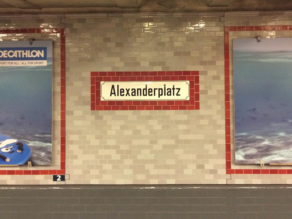 U-bahn station, Alexanderplatz