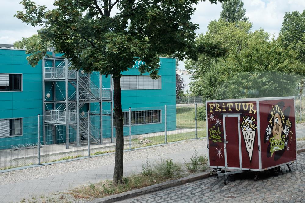 Industrikvarter, med sjove farver