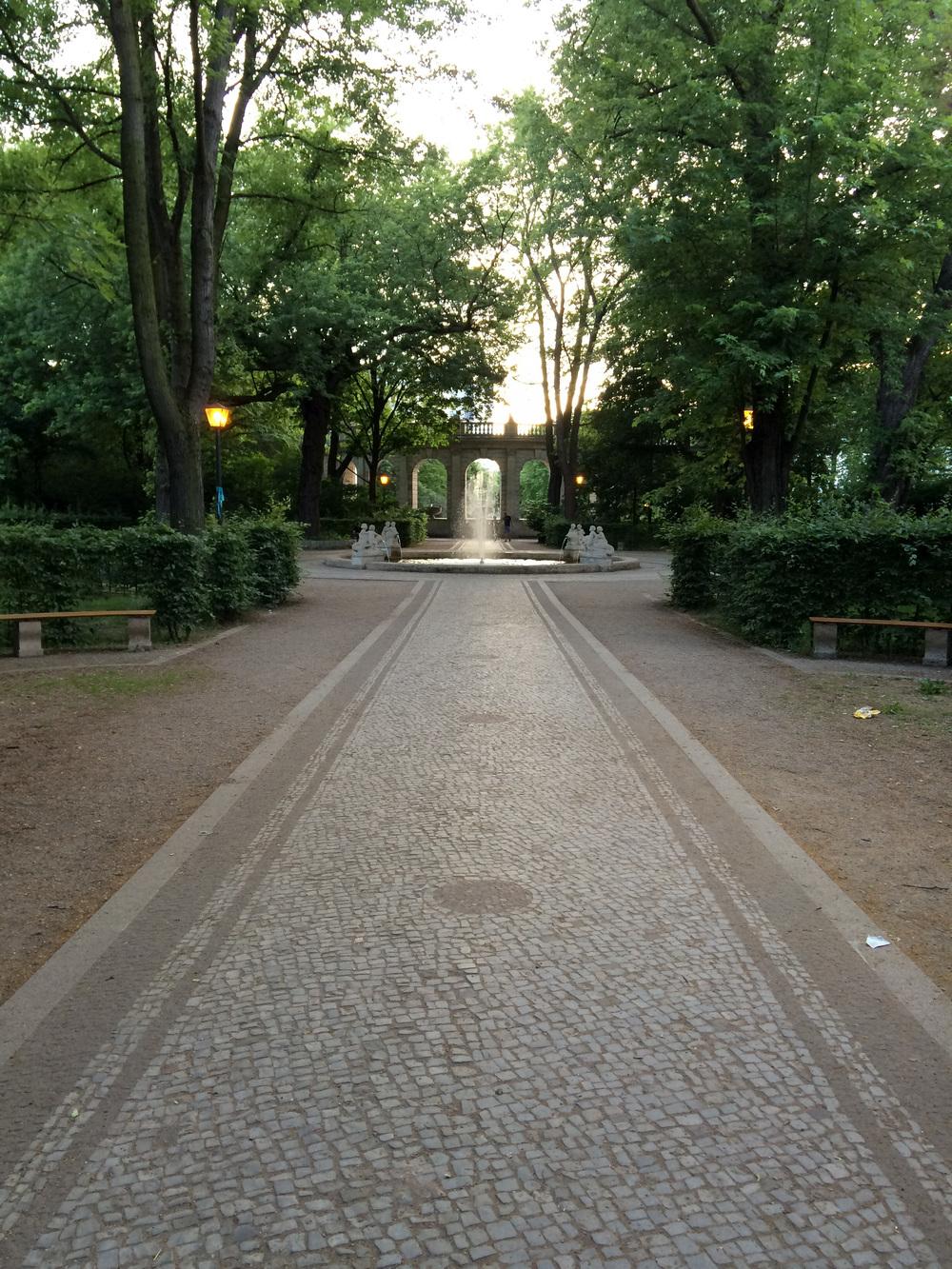 Den mere formelle del af parken