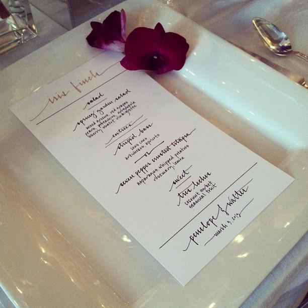 iris finch menu