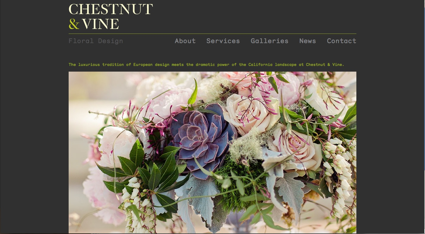 chestnut & vine homepage