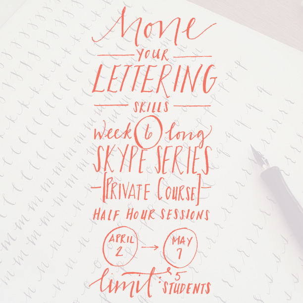 new online lettering flyer