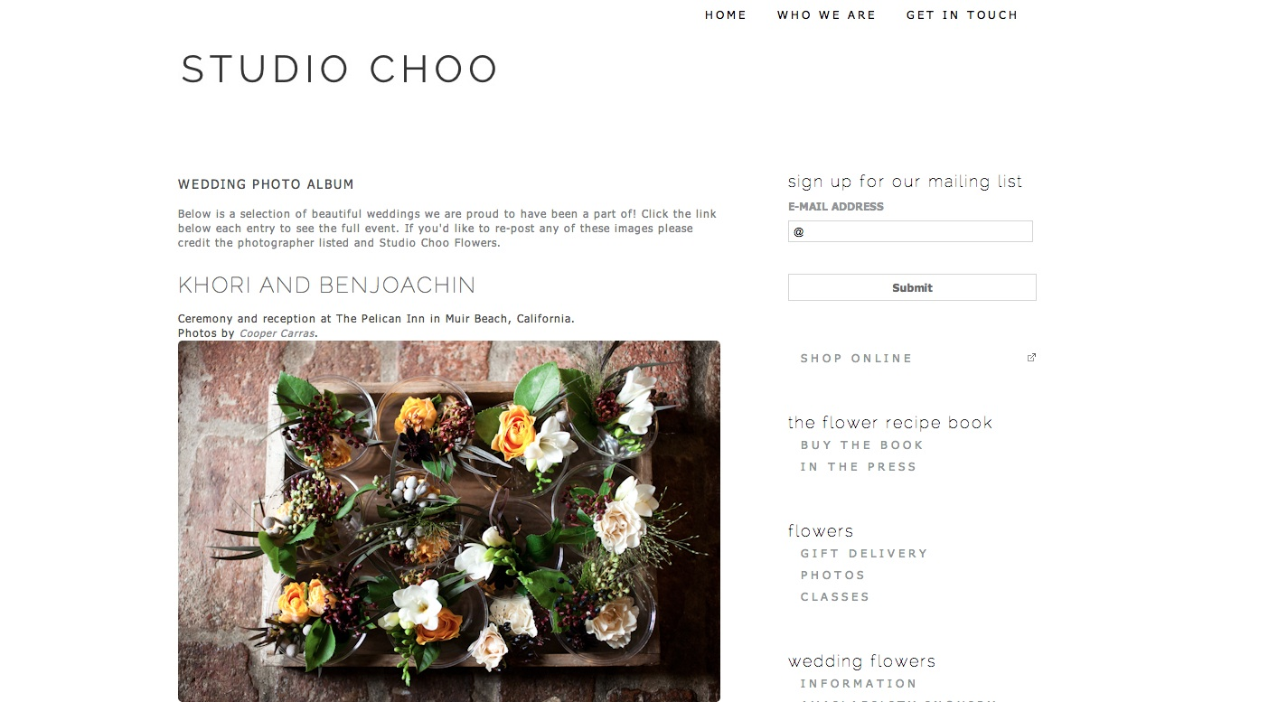 studio choo homepage