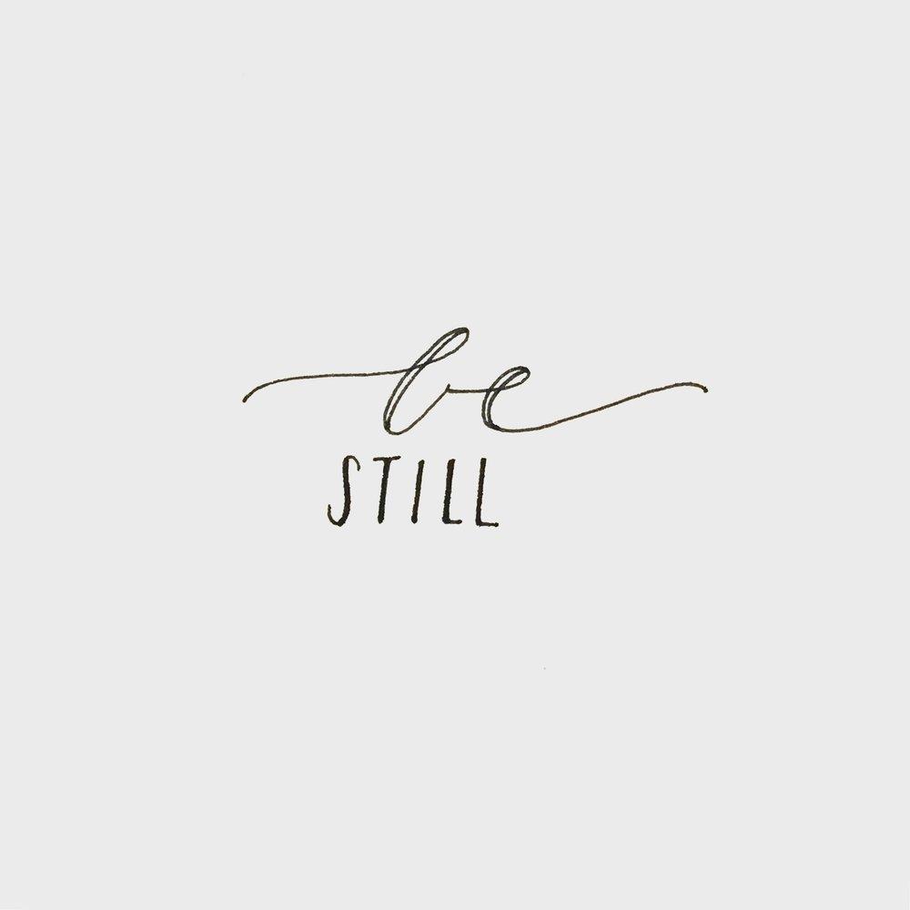 Be Still Lettering | 2018