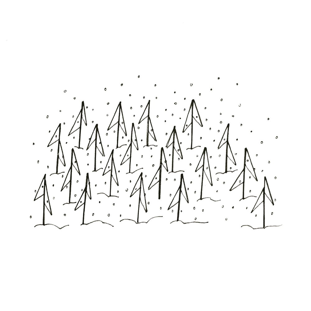 Flag Trees Illustration | 2018