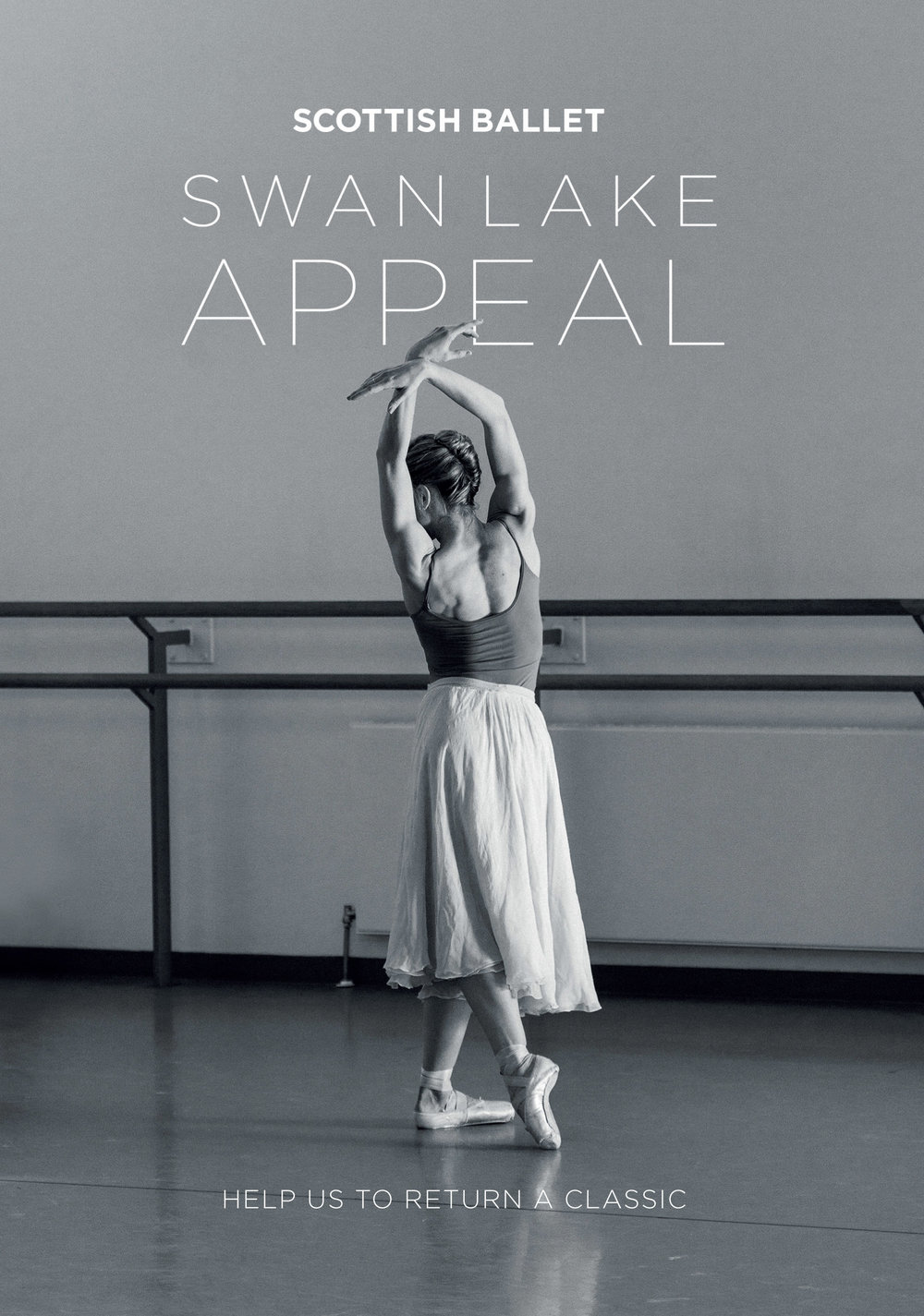 Scottish Ballet Swan Lake Appeal flyer