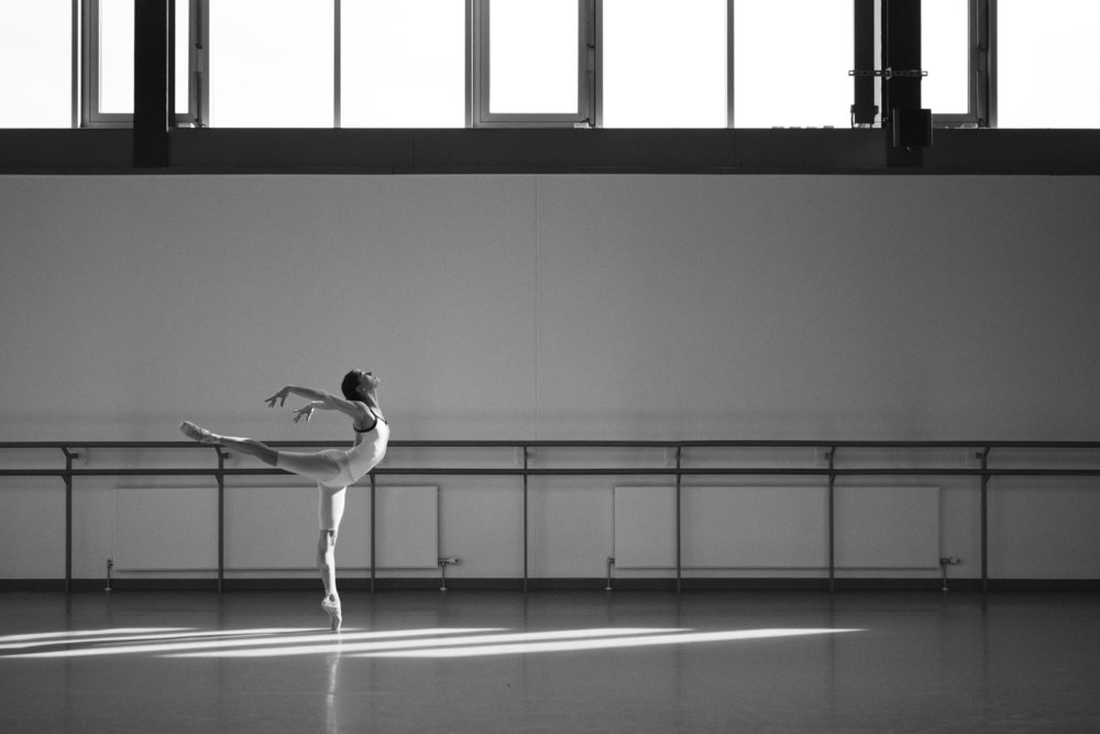 Sophie Martin in rehearsals for David Dawson's Swan Lake
