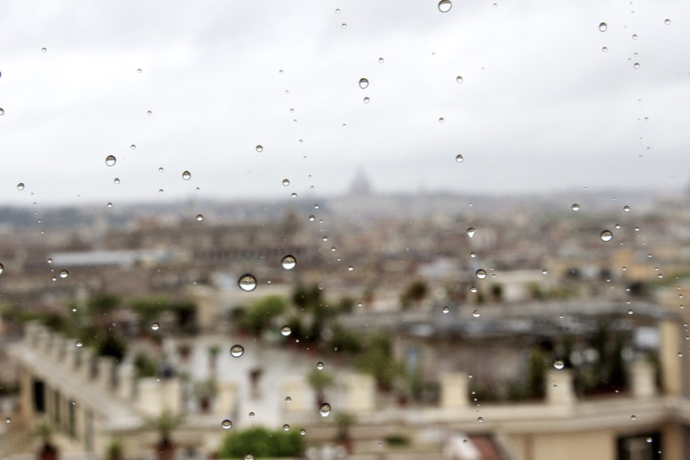 raindrops over rome